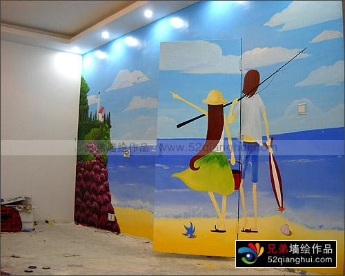 江宁区铜井小区客厅手绘墙