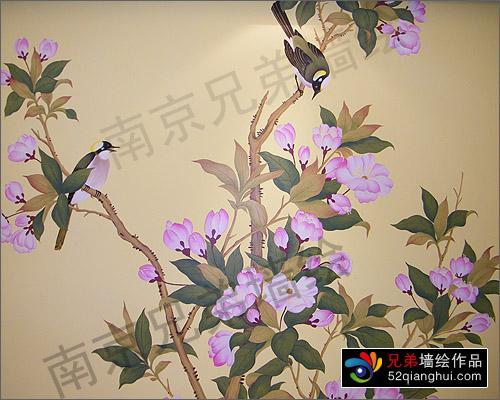 仙林别墅手绘墙画