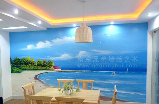 餐厅手绘墙 - 南京兄弟墙绘公司