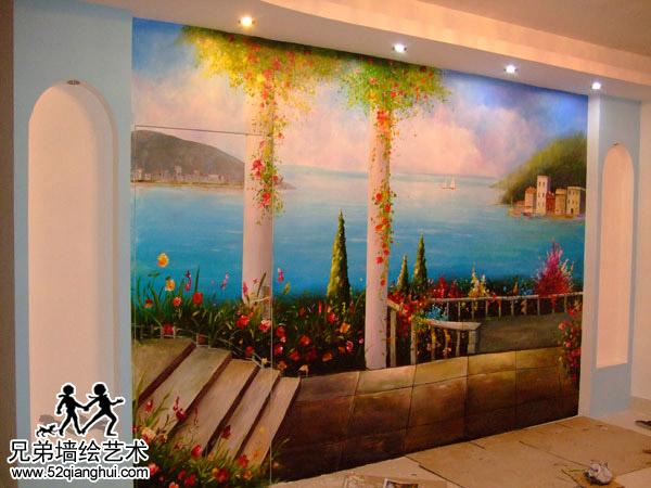 苏宁威尼斯水城隐形门墙绘壁画