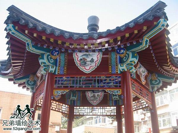 亭子古建彩绘,江苏南京古建筑彩绘