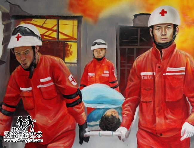 安徽宣城消防队3D立体画2