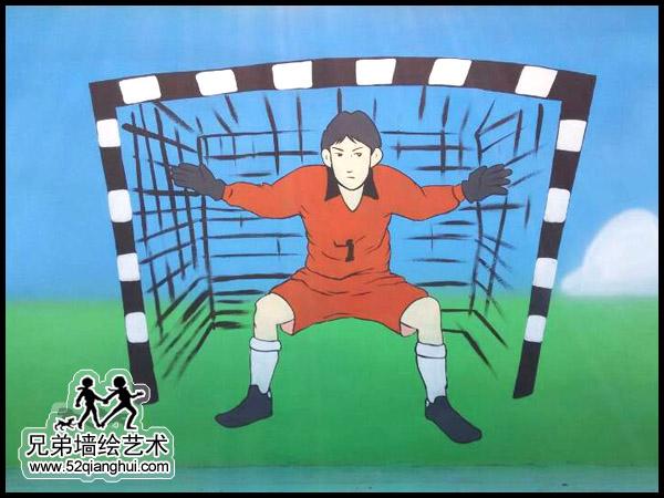 八卦洲中桥中学围墙体育场彩绘