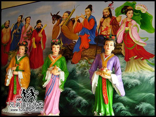 佛像彩绘,古建筑寺庙彩绘壁画
