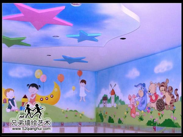 幼儿园墙面彩绘,幼儿园教室彩绘设计