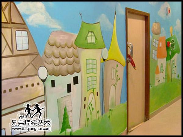 幼儿园墙面彩绘_幼儿园喷画