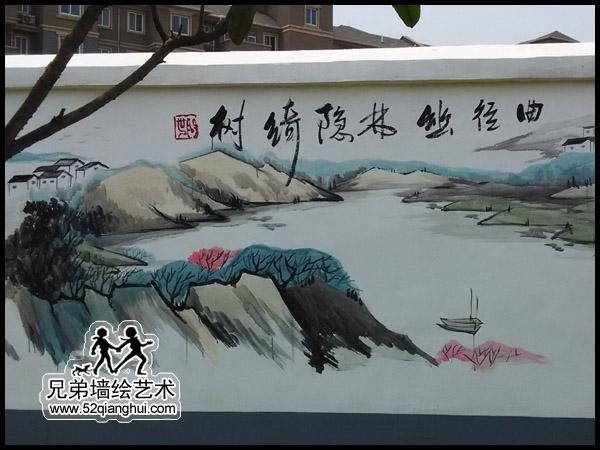 江宁景区文化墙彩绘2