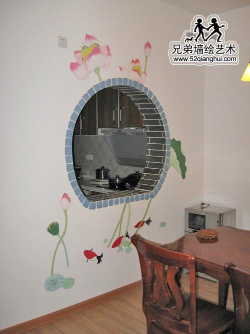 餐厅玄关墙体彩绘