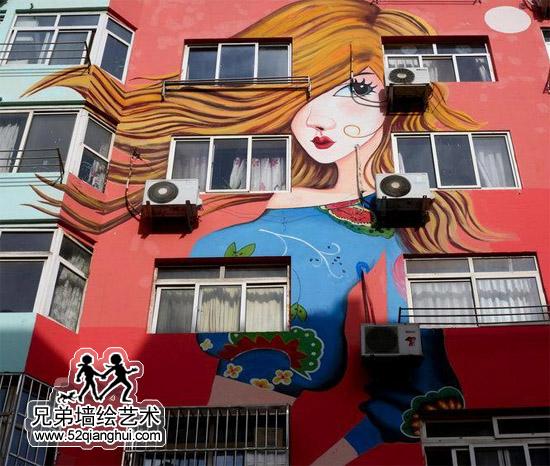 楼体彩绘,大楼外墙巨幅墙绘