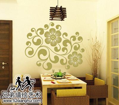 餐厅背景墙手绘