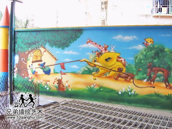 幼儿园外墙喷绘彩绘喷画