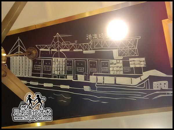 金鹰天地澳门餐厅天花板手绘