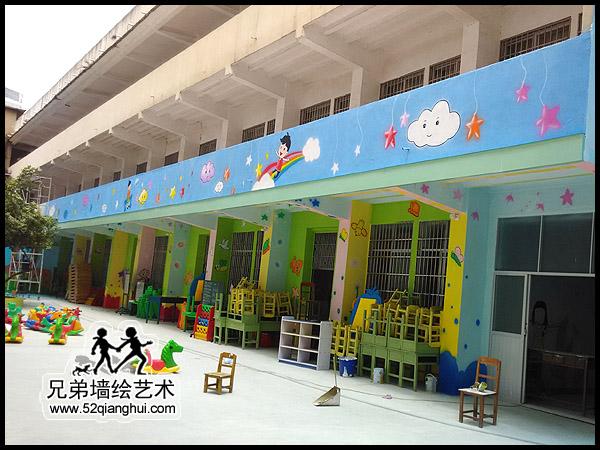 广西博白艺术幼儿园喷画彩绘