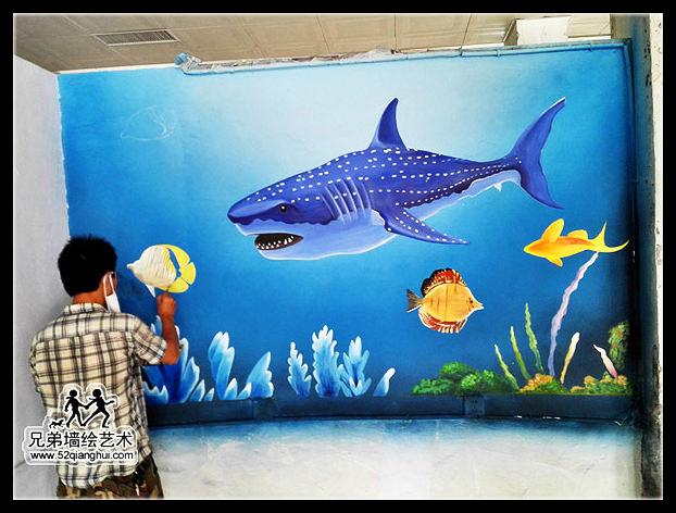 中国传媒大学南广学院海鲜餐厅彩绘