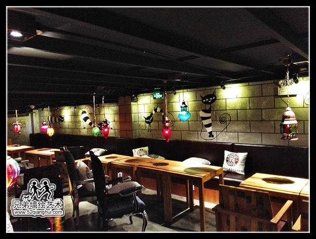 漫猫咖啡厅彩绘
