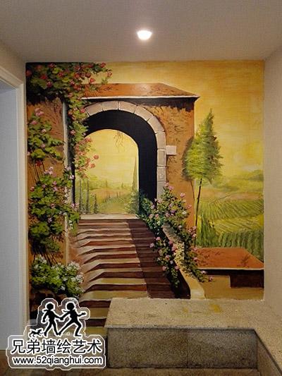 玛斯兰德别墅墙体彩绘