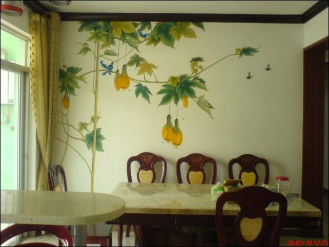 几张客厅背景墙的墙绘图片_墙绘素材图片_墙体彩绘_墙