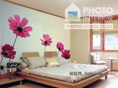 几张客厅背景墙的墙绘图片