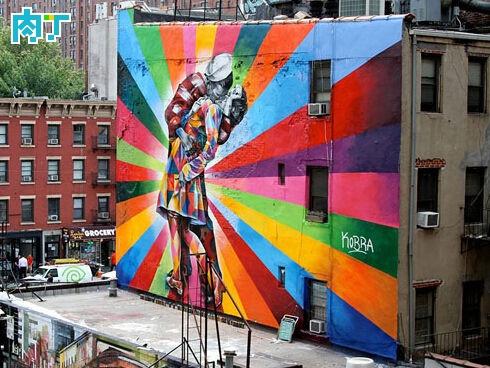 国外欧洲街头艺术家街头涂鸦文化欣赏_墙绘素材图片