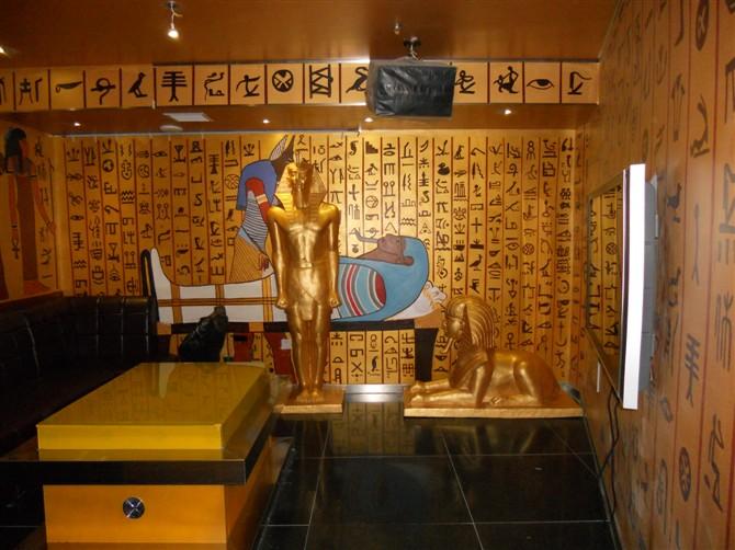 埃及风格ktv包间墙体彩绘