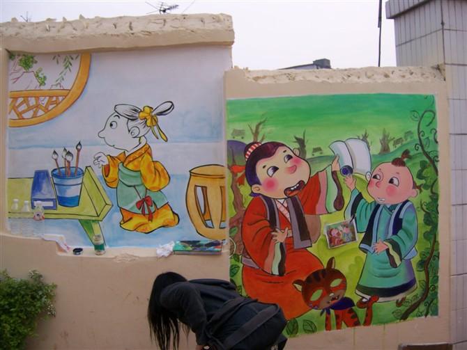 小学文化墙宣传画