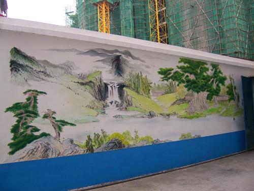 学校文化墙彩绘学校壁画