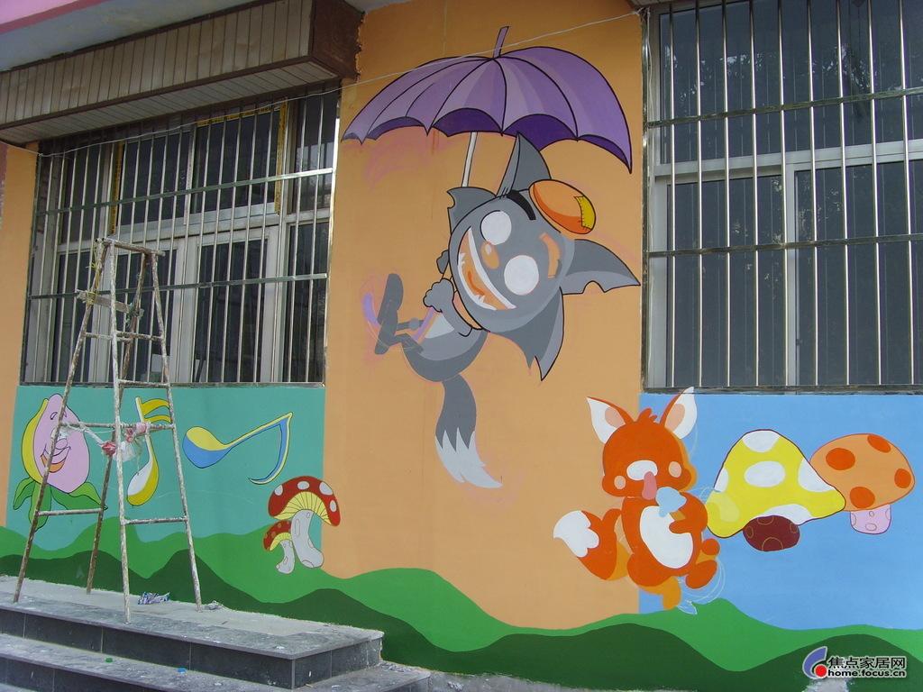 2016喜羊羊幼儿园墙体彩绘