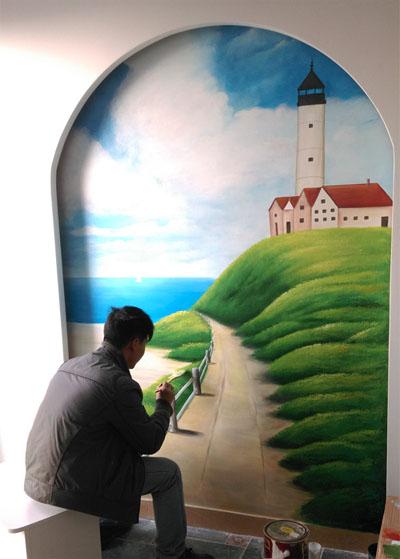 天地新城地中海风格墙绘