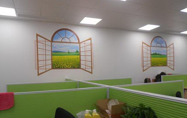 办公室墙绘公司彩绘
