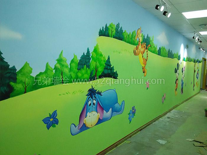 迪斯尼系列南京幼儿园墙绘壁画_幼稚园培训中心