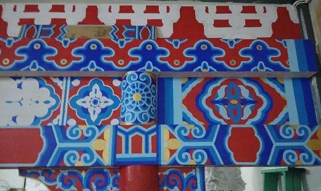 南京古建筑彩绘施工现场