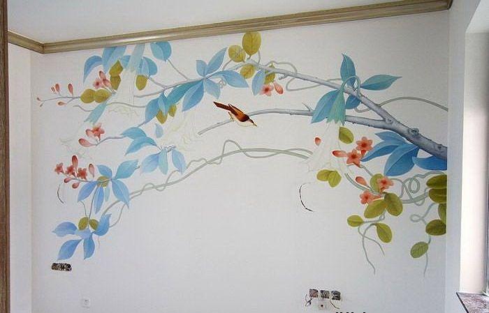 最新的南京电视背景墙绘东方红郡
