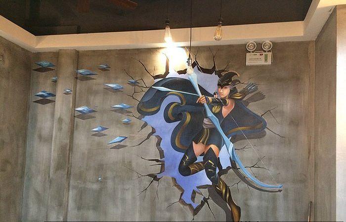 南京网咖墙绘网吧墙体彩绘