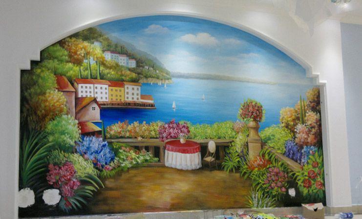 玛斯兰德南京家装别墅墙绘位于南京翠屏山风景区内
