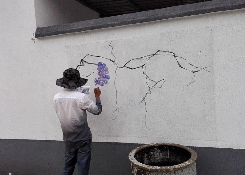 南京三泉社区新农村文化墙壁画2