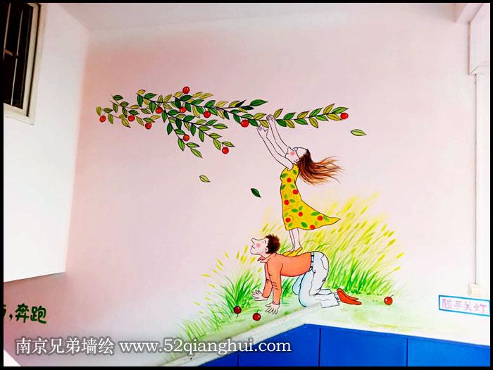 南京学校文化墙彩绘壁画,南京墙绘多少钱一平方