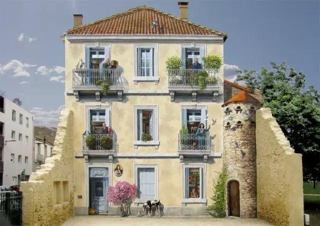 法国艺术家Patrick Commecy化腐朽为神奇的墙面绘画