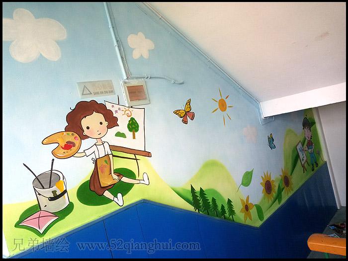 小市中心小学楼道墙绘壁画