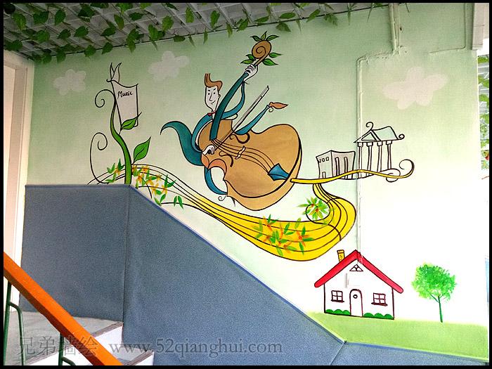 和燕路小市小学墙体彩绘,南京墙绘公司