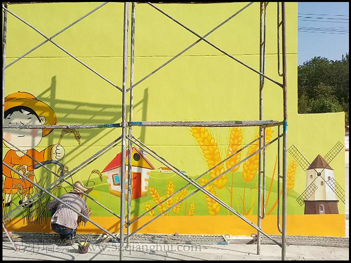 江宁区建设社区文化墙彩绘 江苏文化墙价格是多少