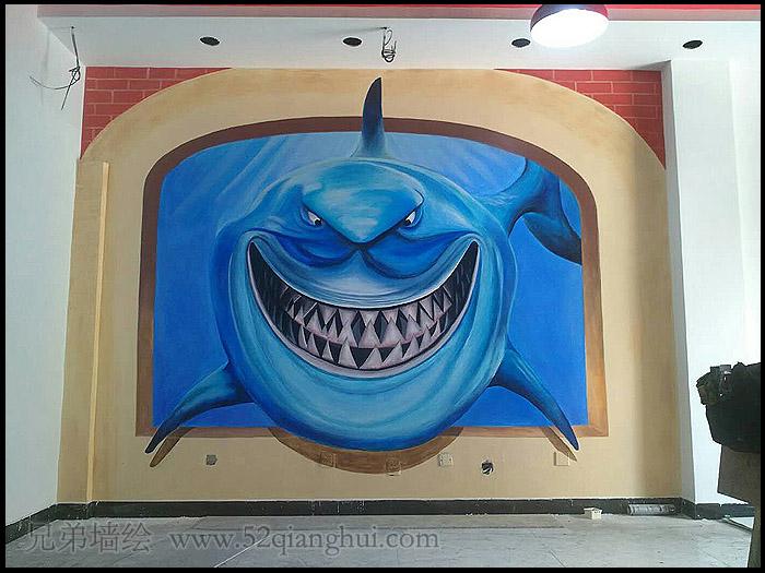 深海巨鲨3D立体画
