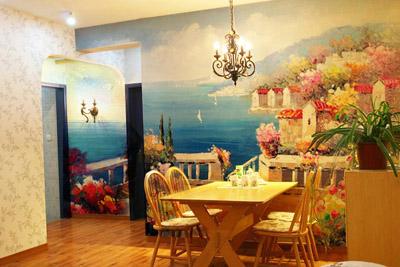 餐厅墙绘图片素材,手绘墙图片素材