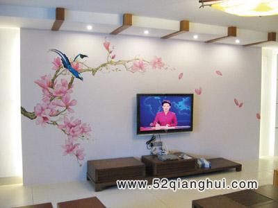 手绘电视背景墙图片,手绘墙图片素材,墙绘图片素材