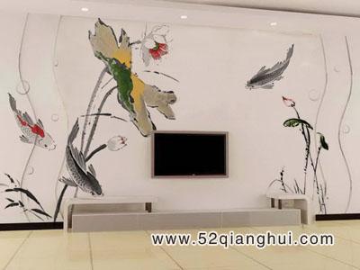 电视墙手绘素材 电视背景墙 墙绘素材 中国手绘