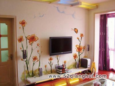 手绘电视背景墙图片,手绘墙图片素材