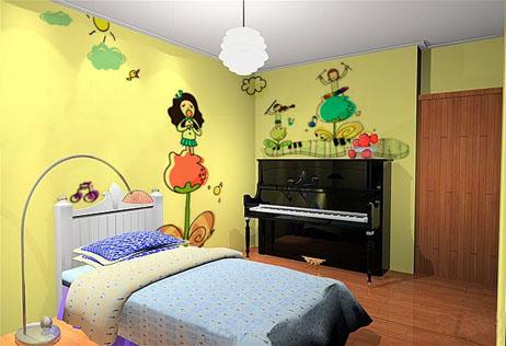 儿童房墙绘图片素材(点击看大图)