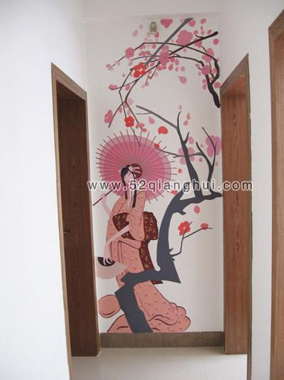 楼梯墙绘图片,走廊手绘素材,手绘墙图片素材