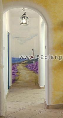 楼梯墙绘图片,走廊手绘素材