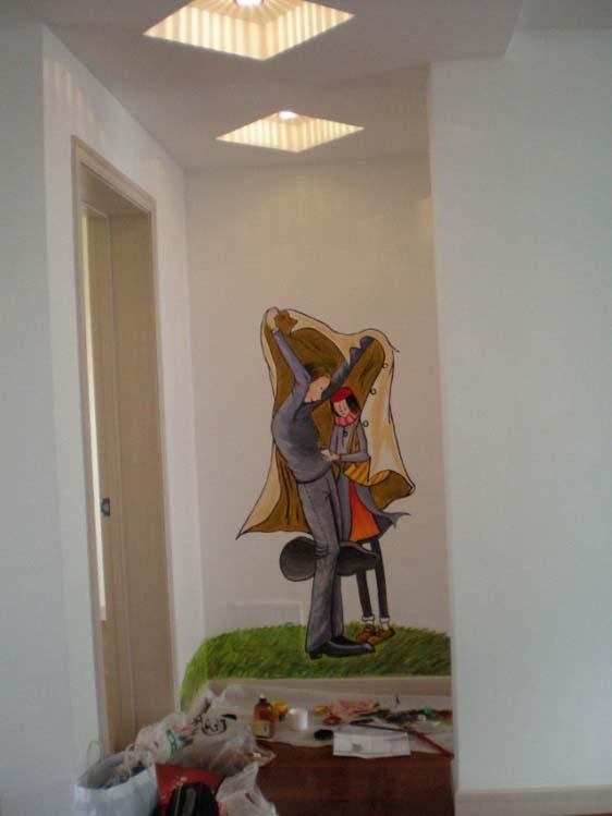 design 壁画卧室_壁画卧室图片素材   创意可爱手绘涂鸦墙图片素材—