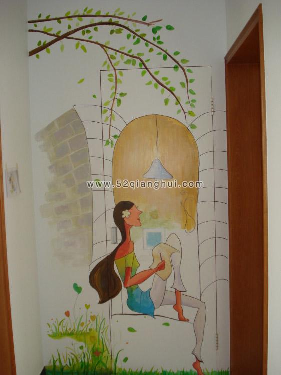 手绘墙图片素材